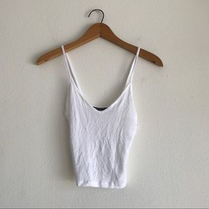 Brandy Melville White Crop Tank One Size